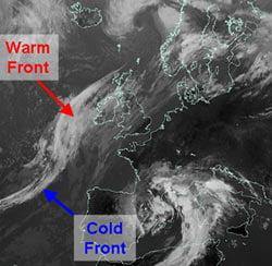 Fig 10: Infrared satellite image, 8 Sep 2005, 1200 GMT