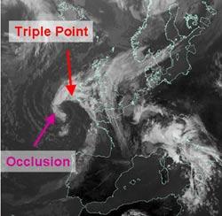 Fig 12: Infrared satellite image, 9 Sep 2005, 1200 GMT