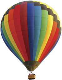 a colourful balloon
