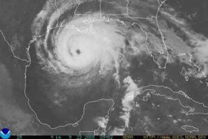 Fig 11: Infrared image of Hurricane Rita 23 September 2005 © Copyright NOAA
