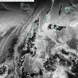 Example of layer cloud on a visible image