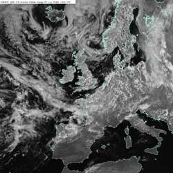 Fig 4d: Example of convective cloud on a visible image