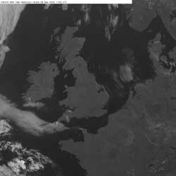 Example of a cloud free anticyclone on a visible image
