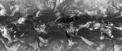 Fig 8: A global infrared image © Copyright EUMETSAT/Met Office