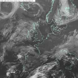 Fig 9: Infrared image 11 May 2005 0000 GMT