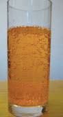 fizzy drink in a glass