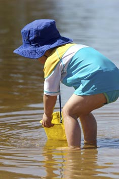 toddler paddling