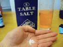 salt in a hand