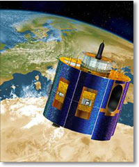 satellites above the earth