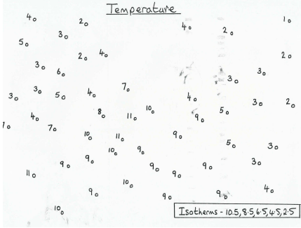 Drawing of isotherms