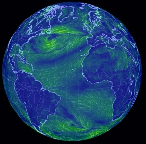 Global map of winds
