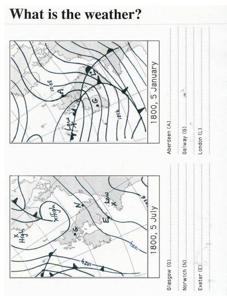Weather map 1800