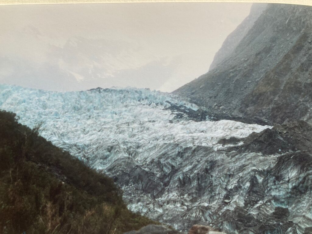 Fox Glacier with dirty ice