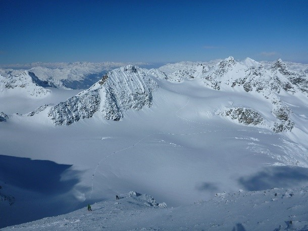 Silvretta Glacier with Fresh snow