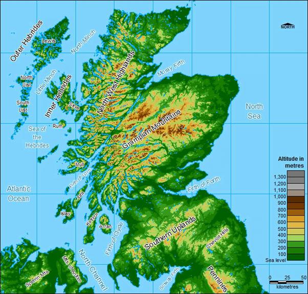 Scottish Orography