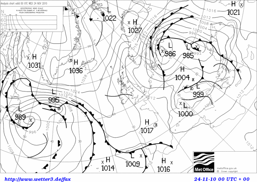 November 2010 synoptic chart