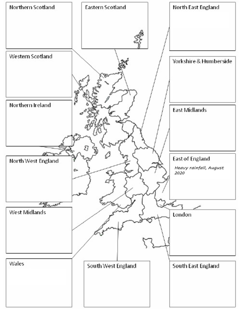 regional extreme weather events
