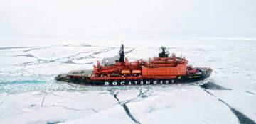 Sea Vessel in Ice